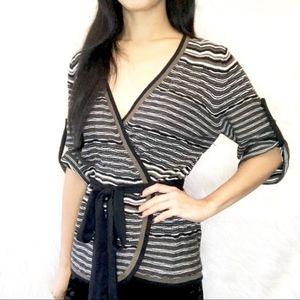 💎 Bcbgmaxazria belted sweater cardigan blouse